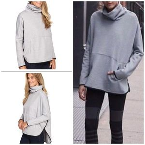 EUC The North Face Slacker Poncho Gray Sweater XS